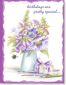 Birthday Card - Florals | Birthdays Are Pretty Special | Claire Comerford | 95264 | Leanin' Tree