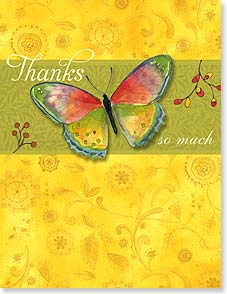 Thank You Card - Staff Pick - Thanks so very, very much | Sue Zipkin | 95322 | Leanin' Tree