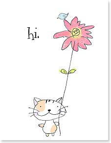 Anytime Wish for You Card - That's all...just wanted to say hi.  | Jim Ishikawa | 95333 | Leanin' Tree