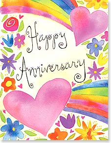 Anniversary Card - Hearts and Flowers | Jessica Sporn | 95337 | Leanin' Tree