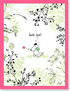 Birthday Card - Staff Pick - Love You! | Jim Ishikawa | 95340 | Leanin' Tree