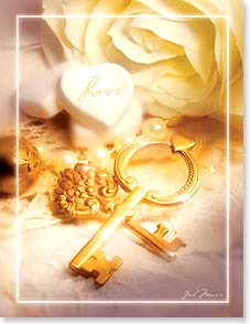 Wedding Card - Love Is The Key - 95348 | Leanin' Tree