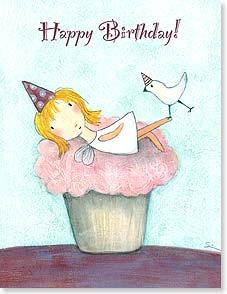 Birthday Card - Happy Birthday Cupcake! | Carla Sonheim | 95353 | Leanin' Tree