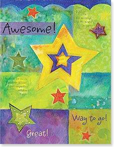 Congratulations Card - Awesome!  Great!  Way to go!  Congratulations!  | Sue Zipkin | 95368 | Leanin' Tree