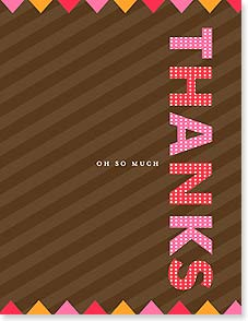 Thank You & Appreciation Card - THANKS oh so much | Simon+Kabuki™ | 95374 | Leanin' Tree