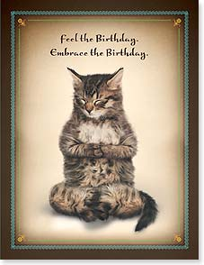 Birthday Card - Be the Birthday. | Yoga Dogs®/Yoga Cats | 95382 | Leanin' Tree