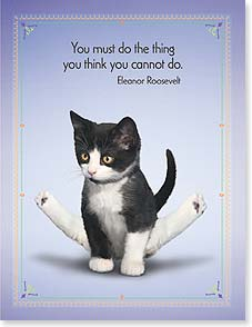 Motivation & Inspiration Card - You've got this. I believe in you! w/ Eleanor Roosevelt | Yoga Dogs®/Yoga Cats | 95385 | Leanin' Tree