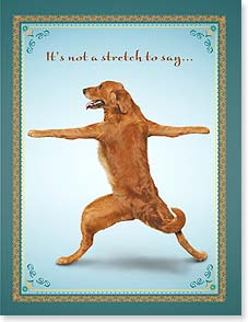 Thank You & Appreciation Card - It's not a stretch to say...You're the best! | Yoga Dogs®/Yoga Cats | 95388 | Leanin' Tree