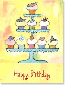 Birthday Card - For your birthday, the Food Pyramid has been reorganized. | Ursula Dodge | 97270 | Leanin' Tree