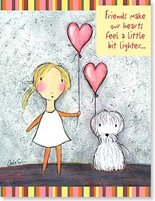 Friendship Card - Friends Make Our Hearts Lighter | Carla Sonheim | 97305 | Leanin' Tree