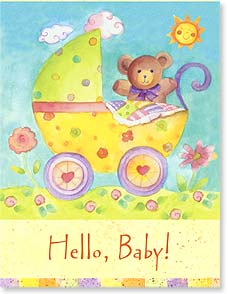 Baby Congratulations Card - Hello, Baby!  Welcome to the world! | Sue Zipkin | 97307 | Leanin' Tree