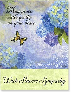 Sympathy Card - Staff Pick - May Peace Settle Gently | Sue Zipkin | 97310 | Leanin' Tree
