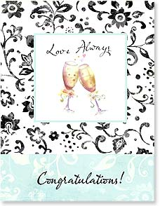 Wedding Card - The very best of wishes to the bride and groom. | Sue Zipkin | 97311 | Leanin' Tree