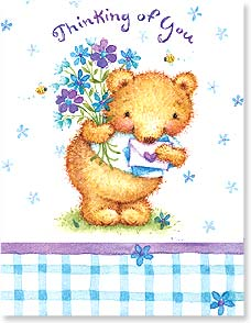 Friendship Card - Best  Wishes Bear - 97316 | Leanin' Tree