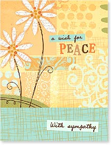 Sympathy Card - A Wish for PEACE  With sympathy | Jessica Flick | 97337 | Leanin' Tree