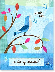 Thank You & Appreciation Card - a little note...a lot of thanks | Jessica Flick | 97338 | Leanin' Tree