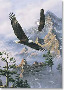 Motivation & Inspiration Card - No bird soars too high...w/ William Blake | Rick Kelley | 988 | Leanin' Tree
