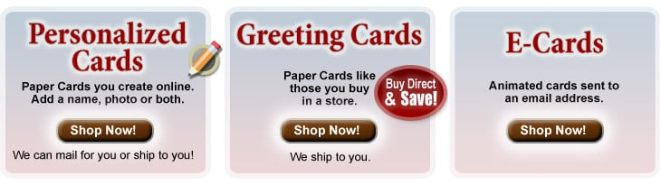 Personalized Thank You Cards & Anniversary Greeting Cards