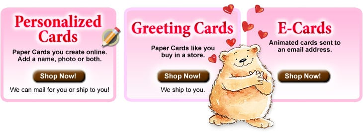 Personalized Valentine's Day Cards and Valentine Greeting Cards