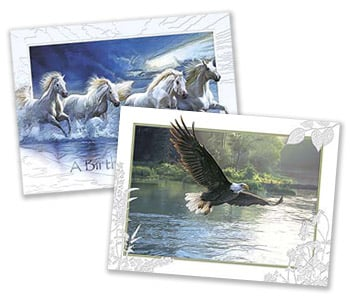 Deluxe Embossed Greeting Cards from Leanin' Tree