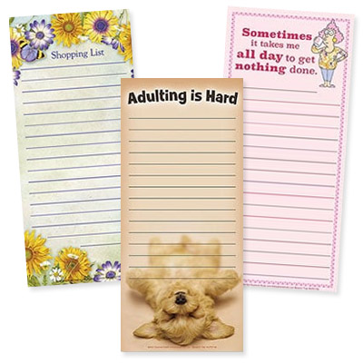 Magnetic List Pads from Leanin' Tree